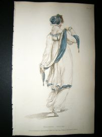 Ackermann 1809 Hand Col Regency Fashion Print. Walking Dress 1-29